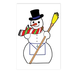 The Masonic Snowman Postcards (Package of 8)