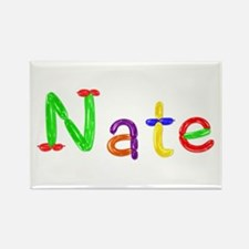Nate Balloons Rectangle Magnet