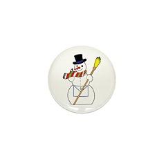 The Masonic Snowman Mini Button (10 pack)