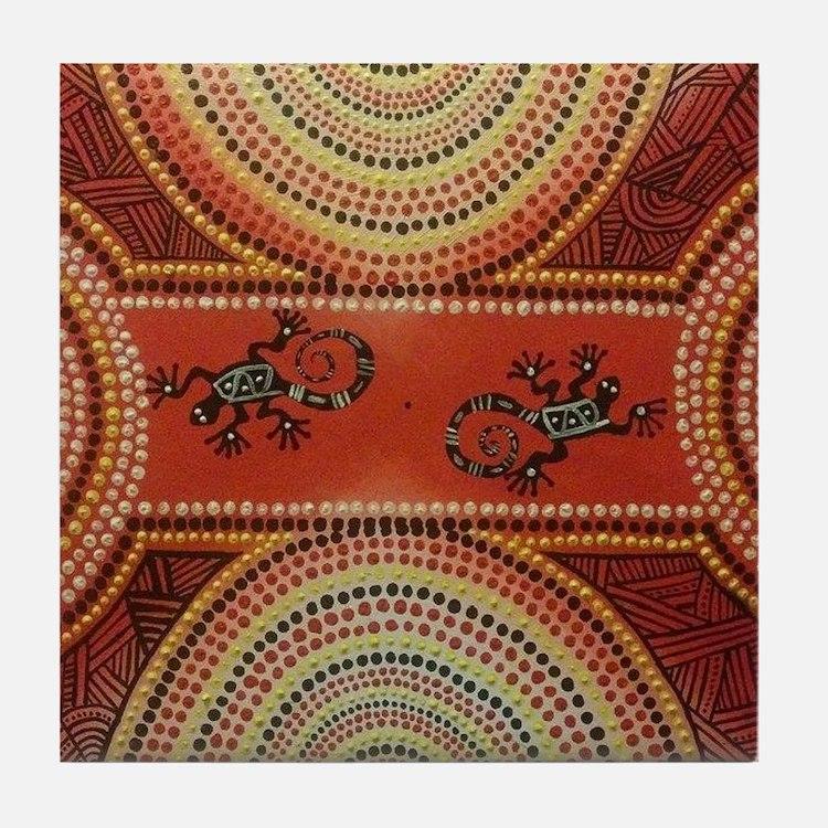 Wandering Geckos Tile Coaster
