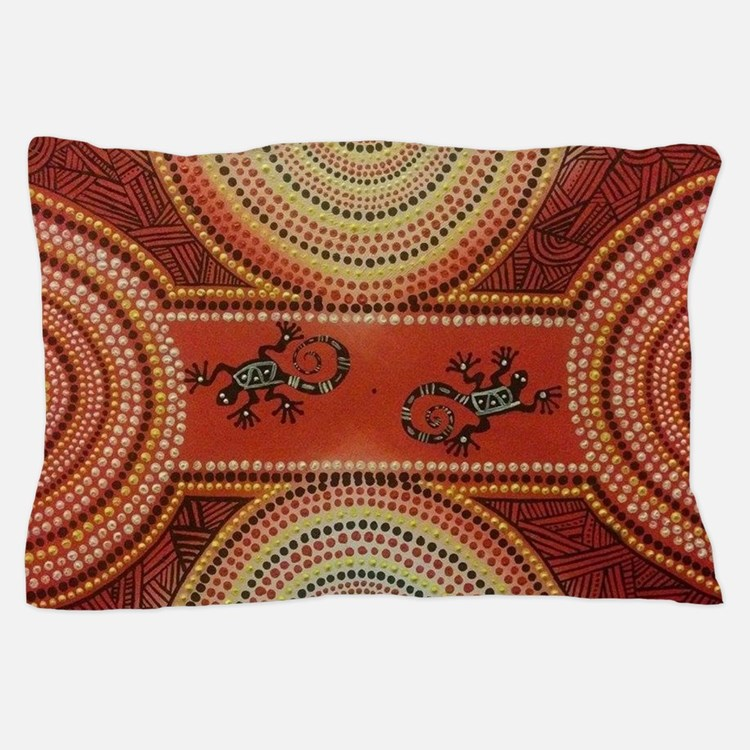 Wandering Geckos Pillow Case