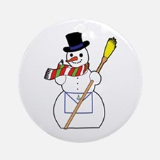 The Masonic Snowman Ornament (Round)