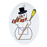 The Masonic Snowman Oval Ornament