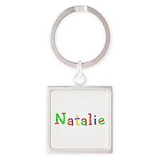Natalie Balloons Square Keychain
