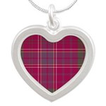 Tartan - Huntly dist. Silver Heart Necklace