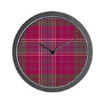 Tartan - Huntly dist. Wall Clock