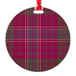 Tartan - Huntly dist. Round Ornament