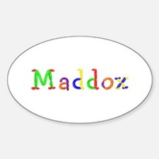Maddox Balloons Oval Decal