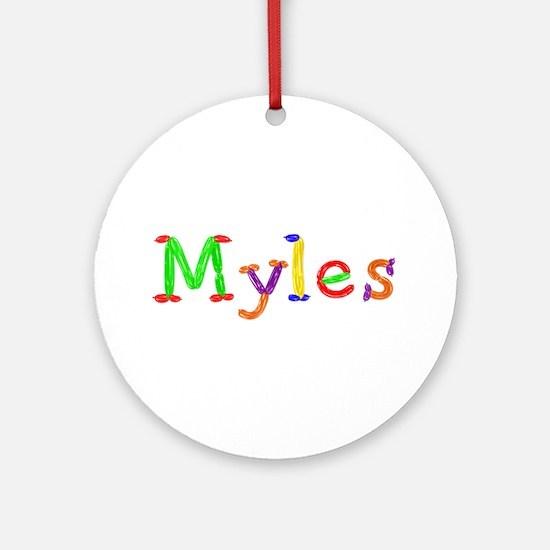 Myles Balloons Round Ornament
