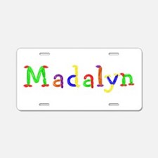Madalyn Balloons Aluminum License Plate