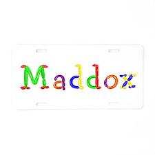 Maddox Balloons Aluminum License Plate