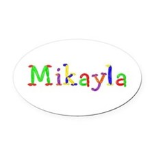 Mikayla Balloons Oval Car Magnet