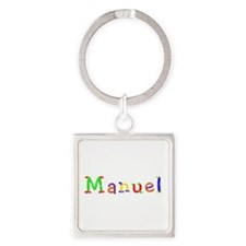 Manuel Balloons Square Keychain