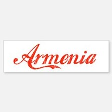 Vintage Armenia Bumper Bumper Bumper Sticker