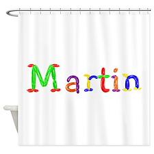 Martin Balloons Shower Curtain