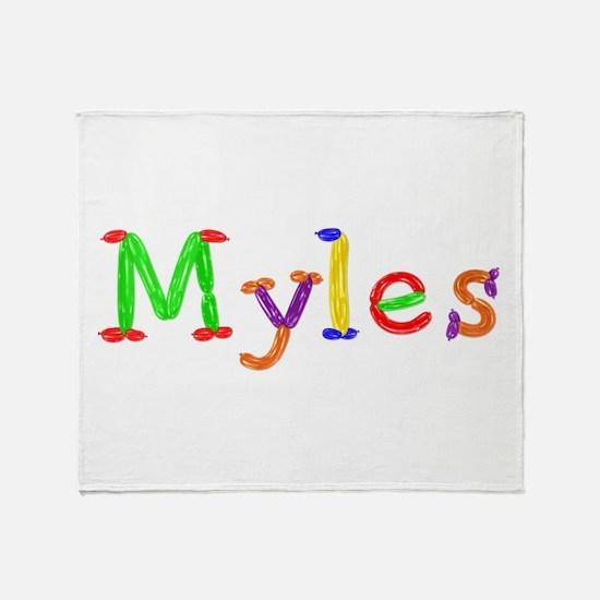 Myles Balloons Throw Blanket