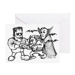 Funny Monsters Greeting Card