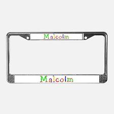 Malcolm Balloons License Plate Frame