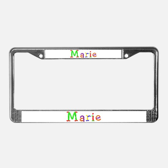 Marie Balloons License Plate Frame