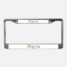 Mayra Balloons License Plate Frame