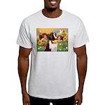 Two Angels & Saint Bernard Light T-Shirt