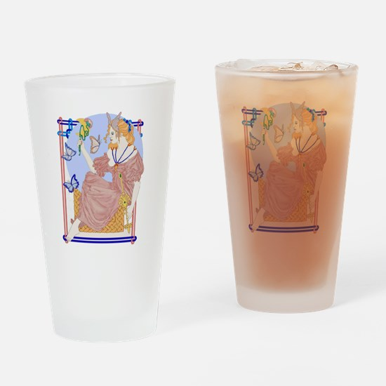Flutterby Moon Drinking Glass