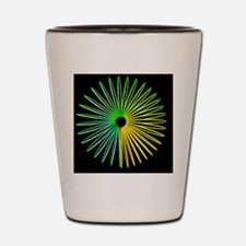 Abstract Optical Illusion Shot Glass