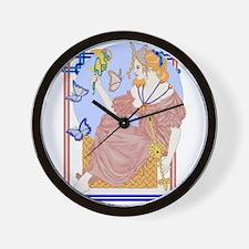 Flutterby Moon Wall Clock