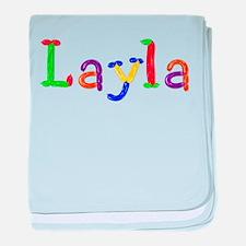 Layla Balloons baby blanket