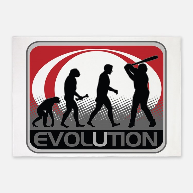 Evolution Baseball 5'x7'Area Rug