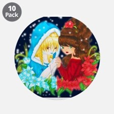"Goddesses of Winter - Backgr 3.5"" Button (10 pack)"