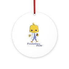 Phlebotomy Dude Ornament (round)