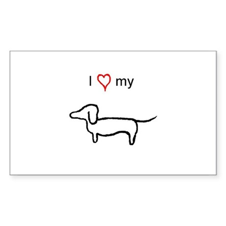 Dachshund Lover Sticker (Rectangular)