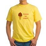 GIMME ICE CREAM Yellow T-Shirt