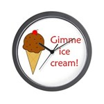 GIMME ICE CREAM Wall Clock