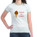 GIMME ICE CREAM Jr. Ringer T-Shirt