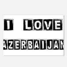 I Block Love Azerbaijan Postcards (Package of 8)