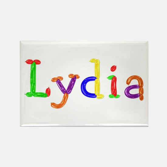 Lydia Balloons Rectangle Magnet