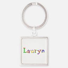Lauryn Balloons Square Keychain