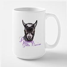 Pygmy Goat Gotta Love 'em Large Mug