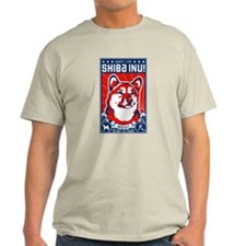 Obey the Shiba Inu Natural T-Shirt