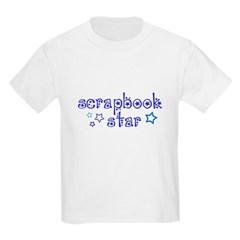 Blue Print Scrapbook Star T-Shirt