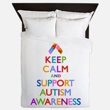 Support Autism Awareness Queen Duvet