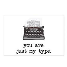 Just my Type Postcards (Package of 8)