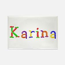 Karina Balloons Rectangle Magnet