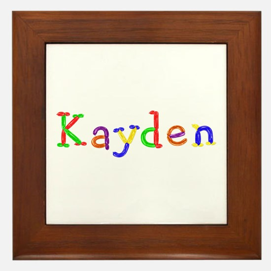 Kayden Balloons Framed Tile
