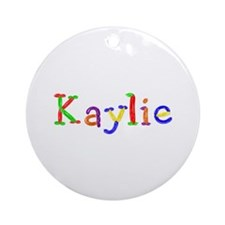 Kaylie Balloons Round Ornament