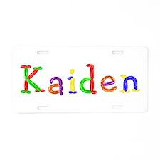 Kaiden Balloons Aluminum License Plate