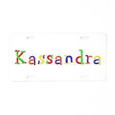Kassandra Balloons Aluminum License Plate