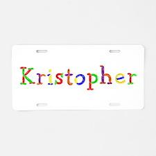 Kristopher Balloons Aluminum License Plate
